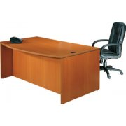 Executive Bow Front Office Desk