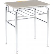 Open View School Desk - Hard Plastic Top, U Brace (30