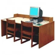Library Computer Table with Curbing (72