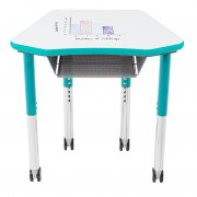 Petal Junior Collaborative Student Desk - Laminate, Colored