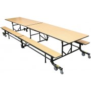 Easy-Fold Mobile Cafeteria Table (12')