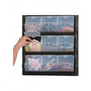 Wall-Mounted Classroom Art Supply Storage - 9 Panel Bins