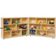 Fold n' Lock Classroom Storage - 16 Cubbies (48