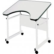 Adjustable Wheelchair Accessible Drafting Table - Casters