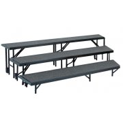 Standing Choir Riser Set - Tapered, Carpeted, 3-Level (18