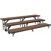 Standing Choir Riser Set - Hardboard, 3-Level (18