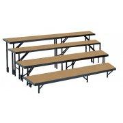 Standing Choir Riser Set - Tapered, Hardboard, 4-Level (18