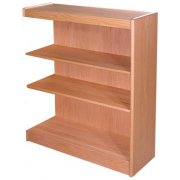 Echelon Modular Wood Library Shelving - Adder (12