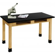 Science Lab Table with Phenolic Top and BookBoxes (72x24x30