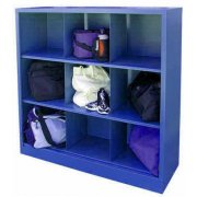 Steel Cubby Storage Unit - 9-Cubby