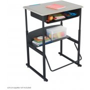 AlphaBetter Sit/Stand Desk - Standard Top, Bookbox, 28