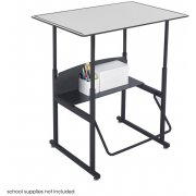 "Alphabetter Sit/Stand Desk - Premium Top, 36""x24"""