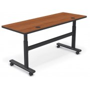 Adjustable-Height Sit/Stand Flipper Training Table (60x24)