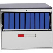 Lateral File Cabinet with 1 Drawer and 1 Slide-out Shelf