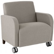 Siena Oversized Guest Chair with Casters
