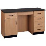 Compact Island Lab Desk (Phenolic Top)