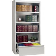 Bookcase with File Drawer (72