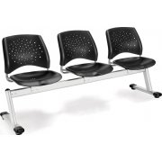 Stars Beam Seating in Plastic - 3 Seater