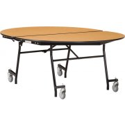 "NPS Folding Oval Cafeteria Table - Plywood, Chrome (72x60"")"