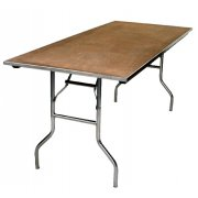 Plywood Rectangular Folding Table (96