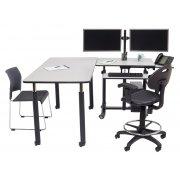 Deluxe Sit Stand Teachers Desk