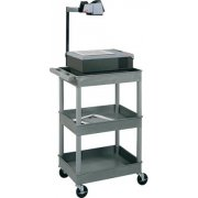 "Heavy Duty AV Utility Cart with 3 Shelves (24x18"")"