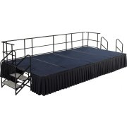 Fully Equipped Carpeted Portable Stage Set (12'Wx24