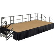 Fully Equipped Hardboard Portable Stage Set (16'Wx24