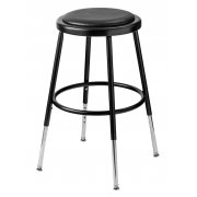 NPS Adjustable Padded Metal Lab Stool (19-27