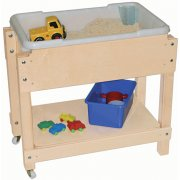 Junior Wooden Sand and Water with Lid/Shelf (28x16