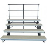 Trans-Port 4-Level Straight Folding Choir Riser w/Back Rail