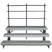 Trans-Port 3-Level Straight Folding Riser with Guard Rail