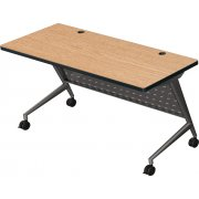 Trend Fliptop Training Table, Black Frame (60x24)