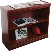 Wood Veneer Bookcase Excalibur Shelves (3'Wx3'H)