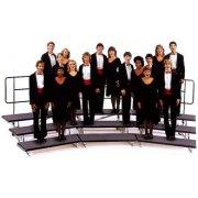 Transfold Portable Folding Choir Risers - 3 Levels (72
