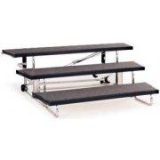Transfold Portable Folding Choir Risers - 3 Levels (48