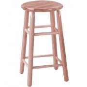 Troutman Solid Wood Lab Stool - Unfinished