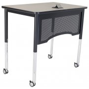 "Adjustable Vantage Standing Teacher's Desk (30x48"")"