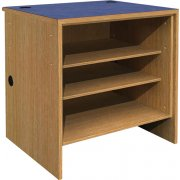 Ultima Modular Library Circulation Desk - Open Shelving