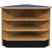 Ultima Modular Library Circulation Desk - Corner Shelving