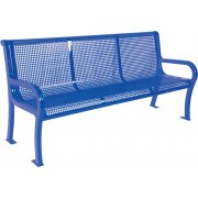 6' Lexington Outdoor Bench with Back, Perforated