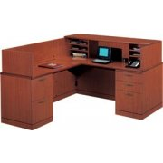 L Reception L-Shaped Office desk-Full Pedestal