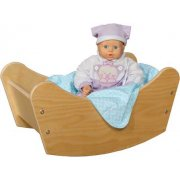 Wooden Baby Doll Cradle