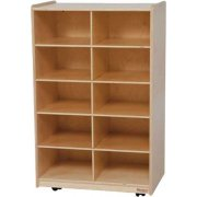Vertical Mobile Cubby Storage