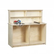 Wooden Toddler Play Kitchen Sink and Stove