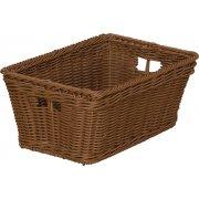 Small Plastic Wicker Preschool Storage Baskets - Set of 10