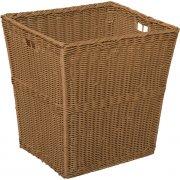 Large Plastic Wicker Preschool Storage Basket