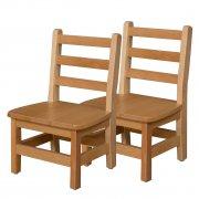 Ladder Back Wooden Preschool Chair - Set of 2 (10