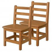 Ladder Back Wooden Preschool Chair - Set of 2 (12