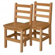 Ladder Back Wooden School Chair - Set of 2 (14
